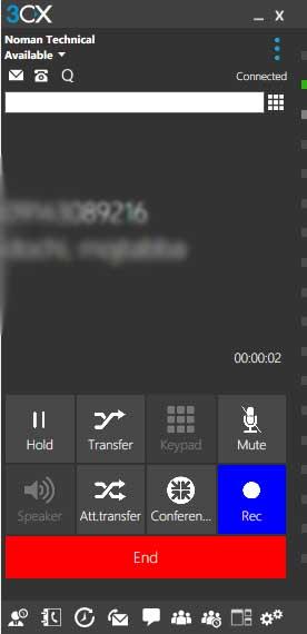 CTi با امکان انتقال مکالمه - انتظار مکالمه در سیستم تلفنی 3cx