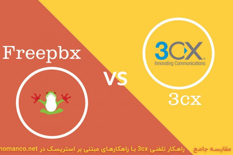 مقایسه 3cx با freepbx
