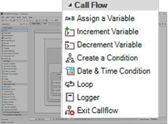 ابزارهای ثانویه که در نرم افزار call flow خواهید داشت